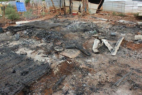 <p>Fire leaves family homeless</p>